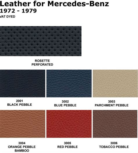Mercedes Interior Color Codes by Mercedes Sl R107 350sl 450sl Leather Seat Covers Kit 72 79