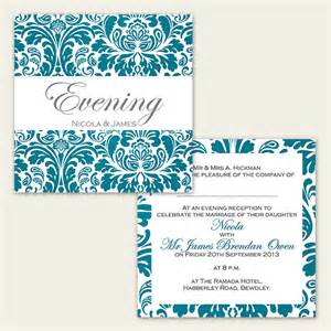 Wedding Invites Templates by Wedding Evening Invites Template Best Template Collection