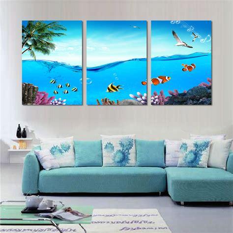 Wall art designs beach wall art modern 3 piece wall art tropical sea world canvas wall decor