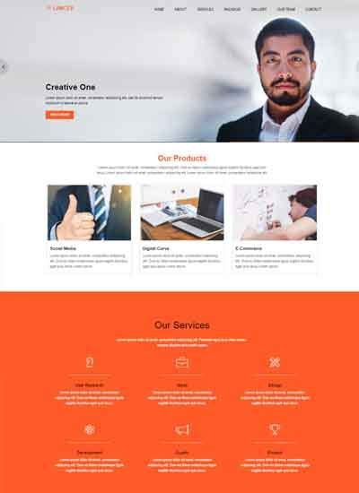 340 One Page Websites Using Html Css Free Download Printing Website Template Free