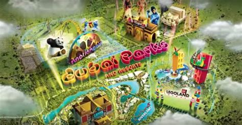 dubai theme parks new video showing off 3 theme parks water parks and more