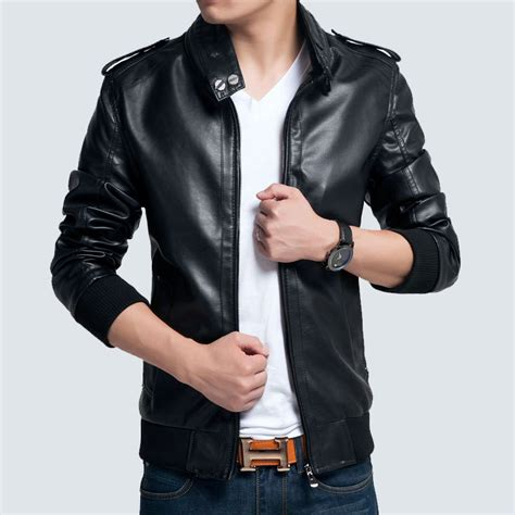 aliexpress karachi pu leather men burst models leather biker jacket for men