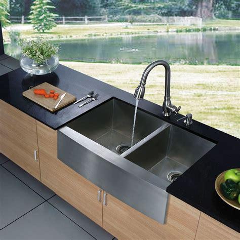36 stainless steel farmhouse sink vigo industries vg3620bl 36 inch bowl stainless