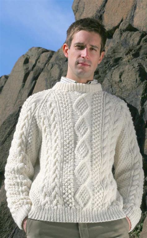 mens aran jumper knitting patterns knitted sweaters patterns for images