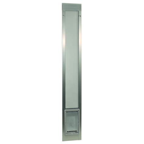 ideal patio pet door ideal pet fast fit pet patio door large silver frame 75 to 77 3 4 inches