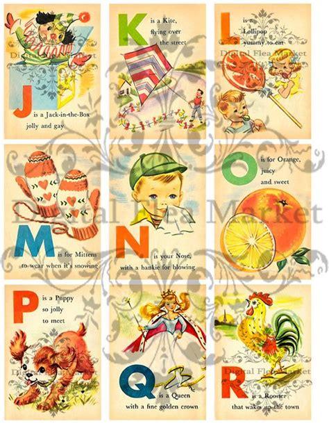 printable vintage alphabet flash cards 8 best images of vintage alphabet cards printable