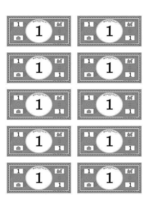 black and white play money pictures to pin on pinterest