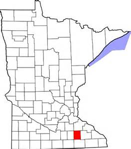 file map of minnesota highlighting dodge county svg