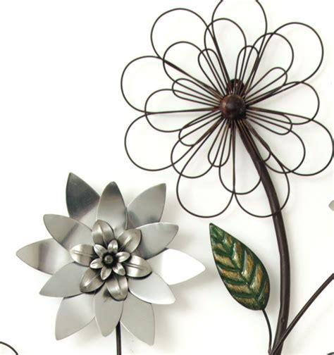 Metal Wall Art New Wall Decor Silver Flower Branch Ebay Flower Wall Decor