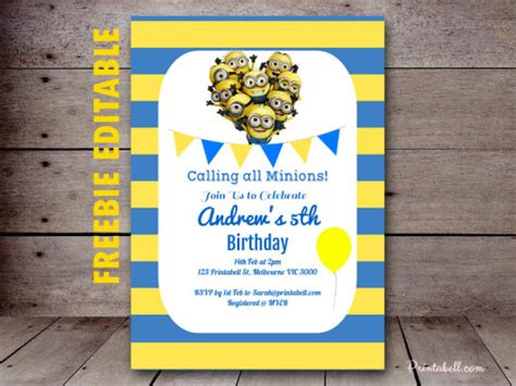 free printable minion invitation template free minion party printable birthday party ideas themes