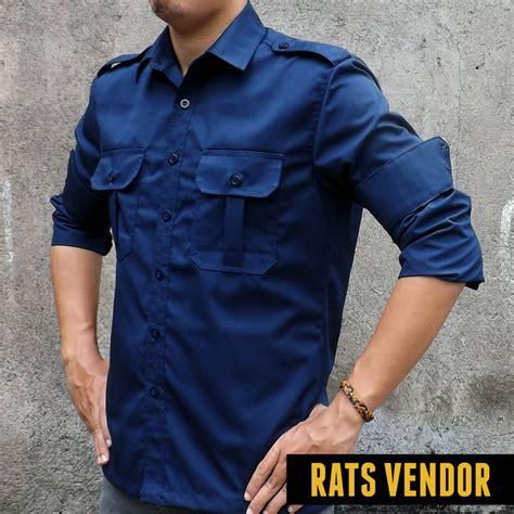 Baju Kemeja Pria Lengan Pendek Dv7362 Dongker Model Dan Motif Terbaru jual kemeja outdoor lapangan gunung pdl lengan