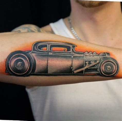 hot rod tattoo 70 rod designs for automobile aficionado