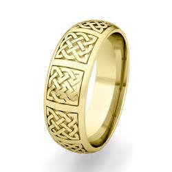 celtic knot wedding bands mens celtic knot wedding band his 18k gold comfort fit wedding ring