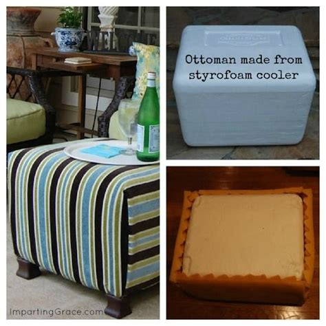 make your own storage ottoman step by step instructions how to make an ottoman from a