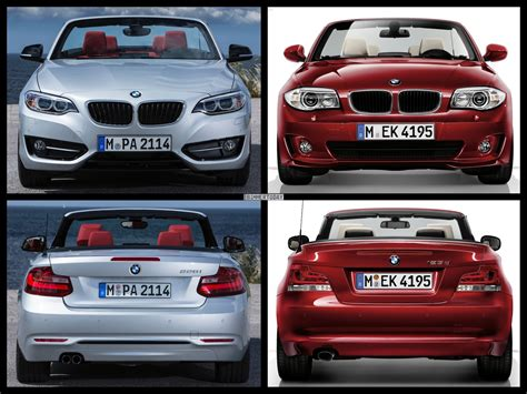 Vergleich Bmw 2er X1 by Bild Vergleich Bmw 2er Cabrio F23 Trifft Bmw 1er Cabrio E88