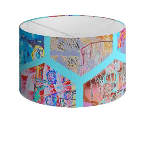 geometric pattern drum l shade drum l shade with geometric design oregonuforeview