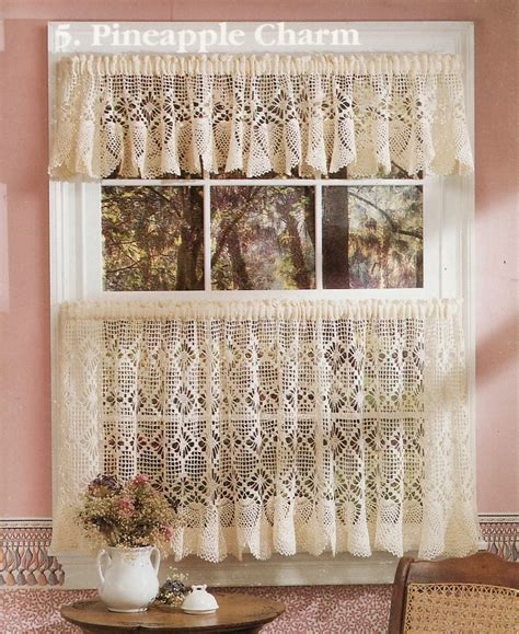 cafe curtain patterns crochet cafe curtains cafe curtains crochet kit vintage