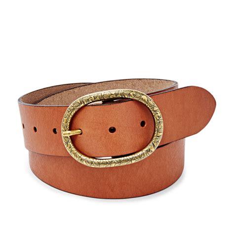 vintage oval buckle belt fossil