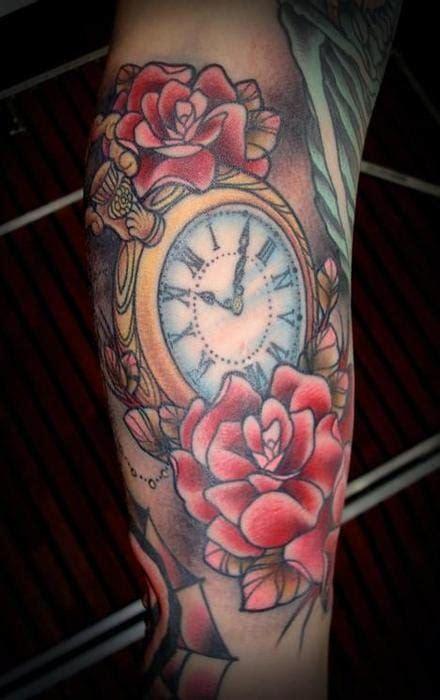 tattoo flower clock 40 best clock tattoos ideas