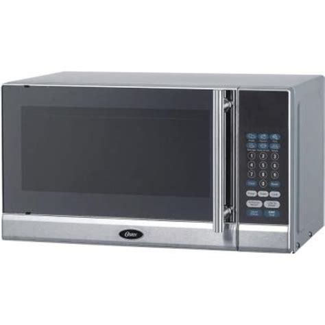 oster 0 7 cu ft countertop microwave in stainless steel