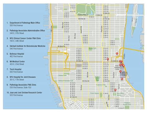 map manhattan streets maps directions department of pathology