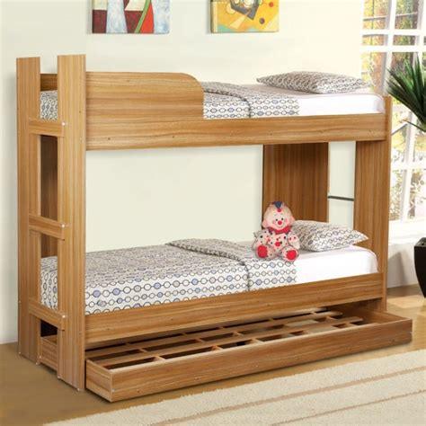 Bunk Beds With Rails On Both Beds Fab Home Navon Bunk Bed Fabfurnish Style Your Bedroom Pinterest Bunk Bed Rooms
