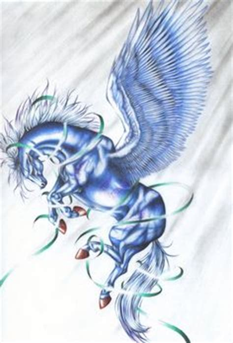 mythical creature restrained bound dragon alighting artist sue dawe unicorns pegasus unipeg unicorn