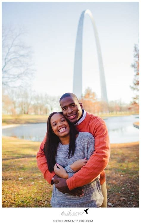 Downtown St Louis Winter Engagement Session by The Arch