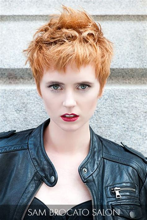 ruffled pixie hair cut ruffle the senses with this assertive strawberry blonde
