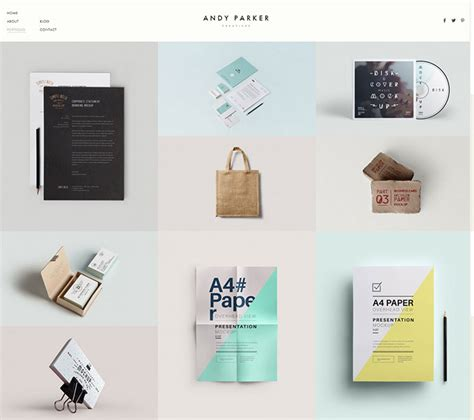 grid layout for portfolio 20 minimalist grid based portfolio wordpress themes web