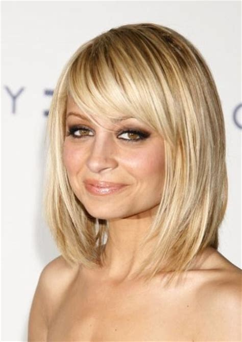 will i suit a lob hairstyle if i have curly hair nicole riche lob with side fringe hair pinterest