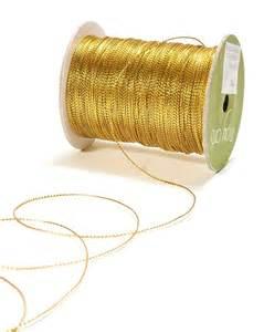 15 yards metallic gold string ribbon by scrapbits on etsy