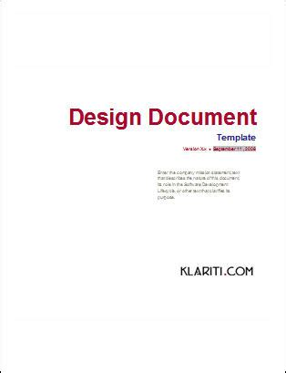 document templates design document ms word template