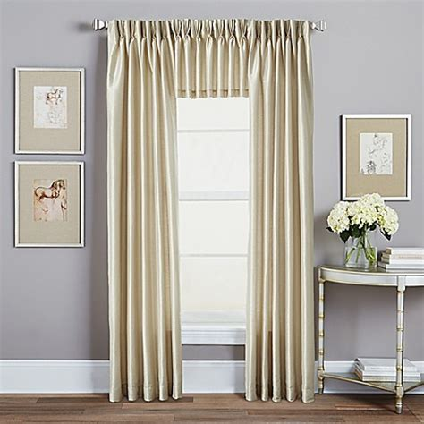 pinched curtains spellbound pinch pleat window curtain panel and valance
