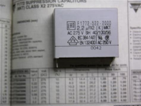x2 capacitor markings 5 vishay f1772 mkt class x2 2 2uf 275vac capacitors ebay