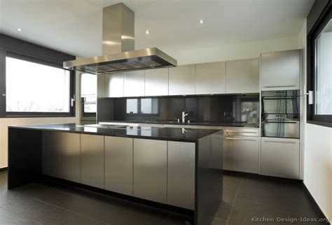 Kitchen Stainless Steel Cabinets Stainless Steel Kitchen Cabinets With Black Granite Countertops