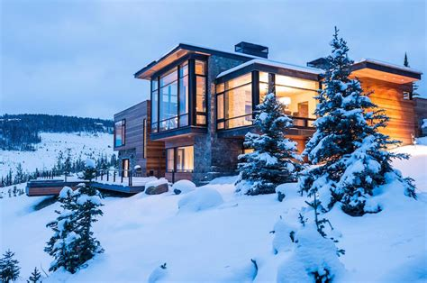 modern mountain homes modern mountain villa in montana