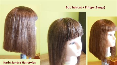 bob hairstyles tutorial bob haircut tutorial with bangs without graduation easy
