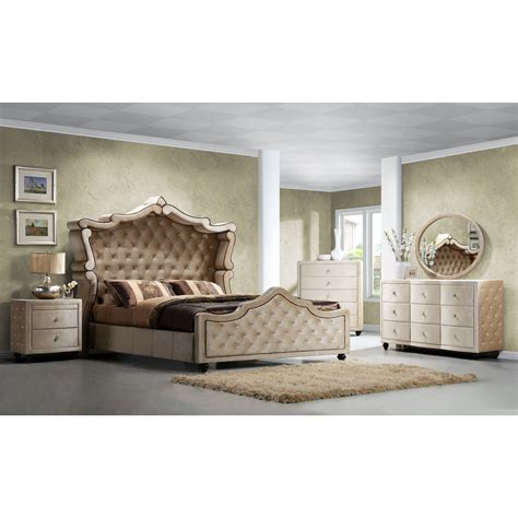 diamond bedroom set meridian furniture usa diamond panel customizable bedroom