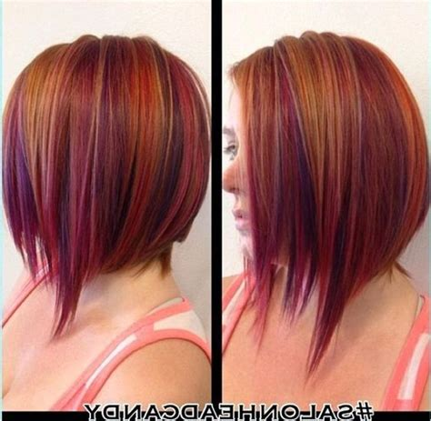 natural red hair with highlights short natural red hair with purple highlights hair ideas