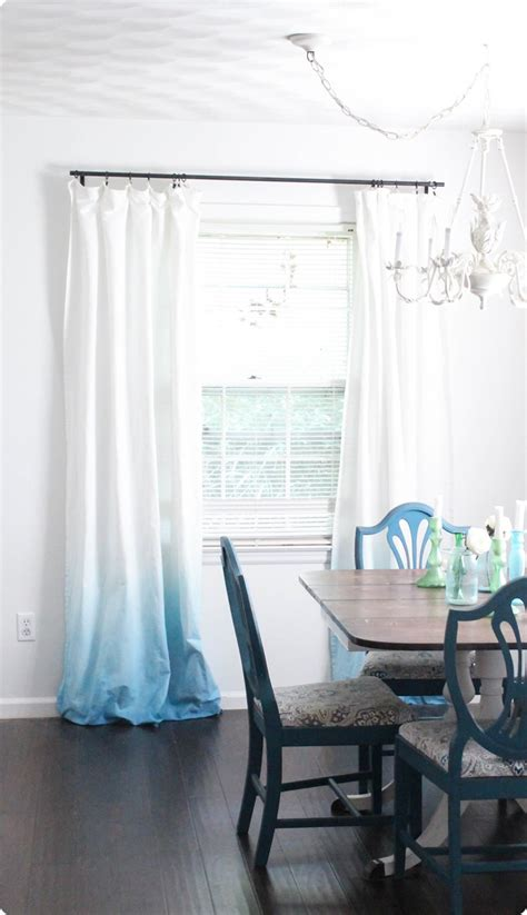 upgrade white curtains diy blue ombre curtains lovely etc