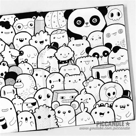 doodle 4 drawing page just a doodle characters by piccandle