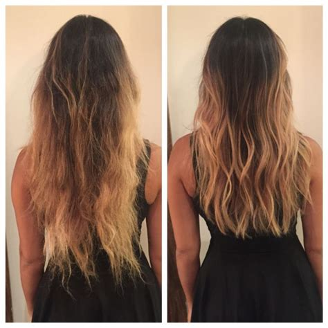 before and after layered haircuts nice before and after long layers haircut soft undercut