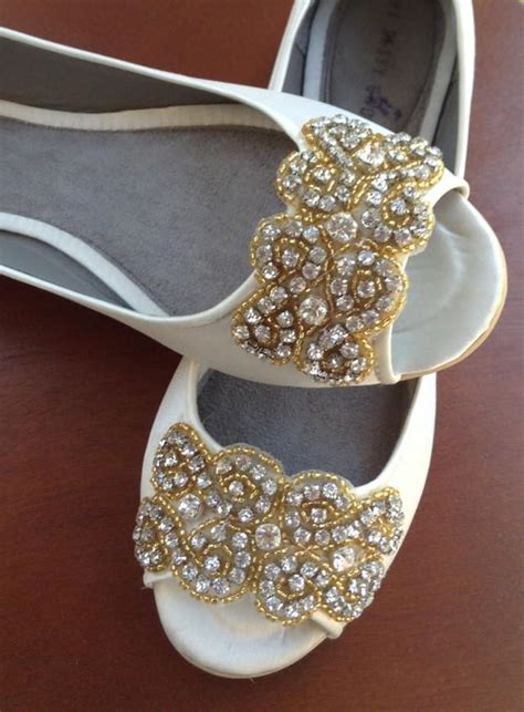 Gold Flat Shoes For Wedding by Wedding Shoes Wedding Peep Toes Flat Wedding Shoes
