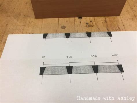 Building A Dovetail Box With Hand Cut Joinery Handmade With Ashley Dovetail Template Diy