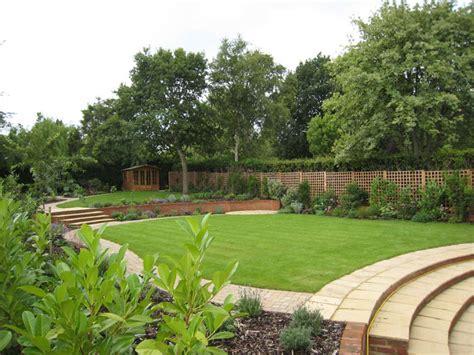 stepped garden design ideas christine lees garden design a garden in hertfordshire