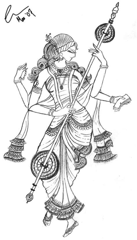 Saraswati Coloring Pages saraswati by minquette on deviantart