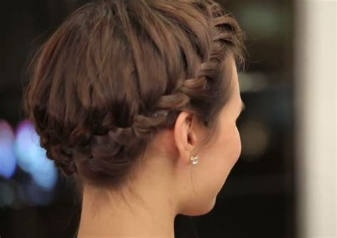 hair styles for helmets hairstyle tutorial the perfect halo braid for short hair