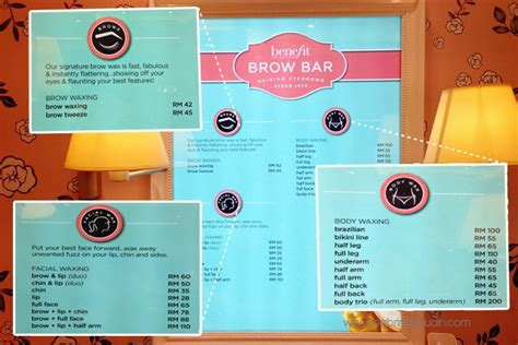 Makeup Benefit Malaysia benefit cosmetics brow waxing service price the new