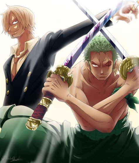 Onepiece Luffy Sanji Zoro sanji and zoro by queenira on deviantart